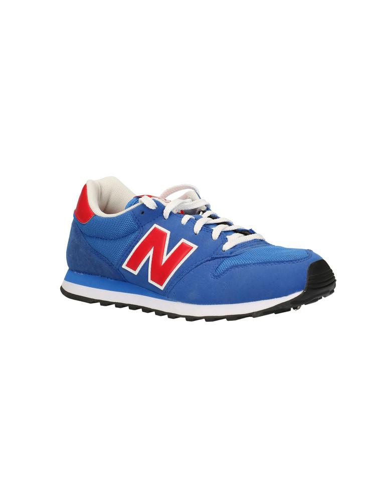 Sneakers New Balance GM500 da uomo blu e rossa.